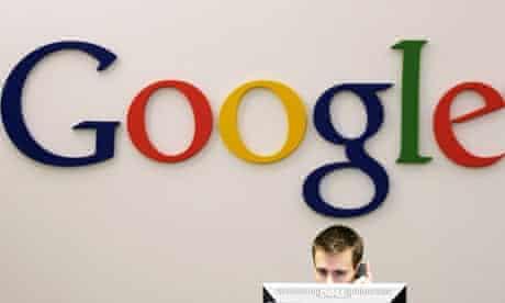 A Google receptionist at work