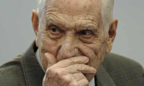 Argentina's last dictator, Reynaldo Bignone, at his trial