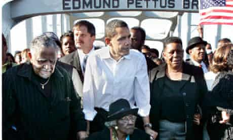 Obama on the Edmund Pettus Bridge