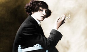 Colette (1873-1954), French writer. Colourized pho