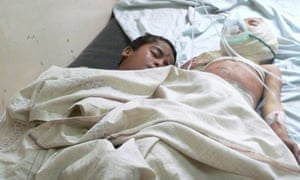 Victims of an explosion at a wedding in southern Afghanistan