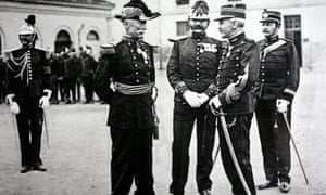 Alfred Dreyfus (second right)