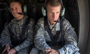 General Stanley McChrystal travels to Kandahar