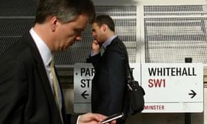Pedestrians in Whitehall