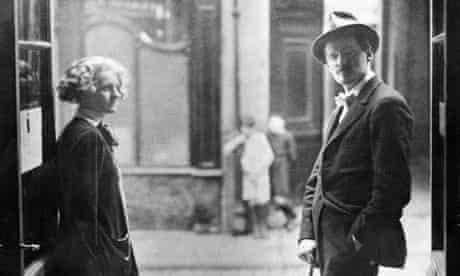 Sylvia Beach with James Joyce
