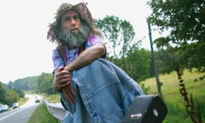 Guitar Bob, hippie on highway