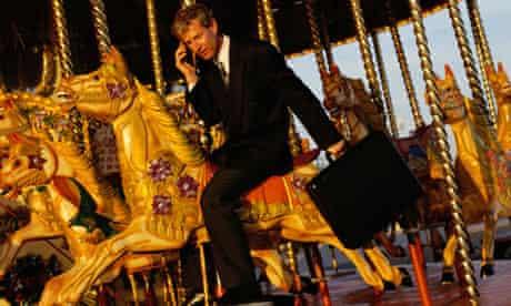Businessman on a Carousel