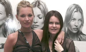 Corinne Day, right, with Kate Moss in 2007.
