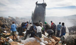 Waste-pickers search for items of value in Haiti dump