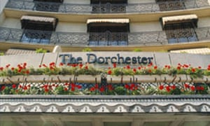Main Facade of the Dorchester Hotel Park Lane London. Image shot 1995. Exact date unknown.