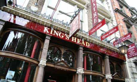 Kings Head theatre pub in Islington