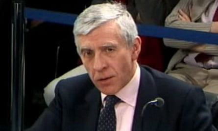Jack Straw giving evidence to the Iraq inquiry for second time