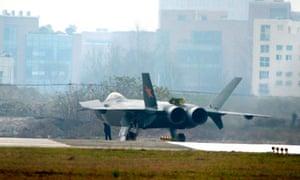 china stealth fighter j-20 test flight