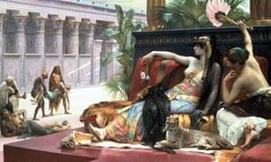 Cleopatra painting by alma-tadema