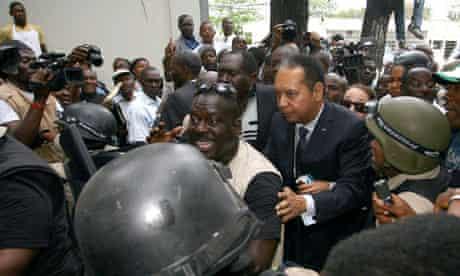 Former Haitian dictator Baby Doc Duvalier