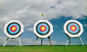 Row of Archery Targets