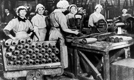British women working in arms factory we
