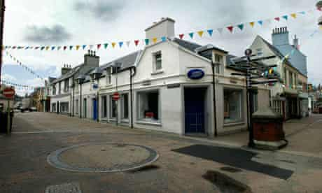 The deserted town centre of Stornoway