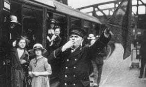 A guard on the Great Western Railway in 1922