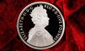 diamond jubilee £5 coin