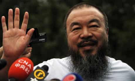 Outspoken Chinese artist Ai Weiwei waves
