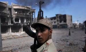A Libyan revolutionary fighter