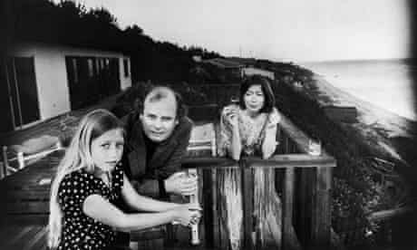 Joan Didion with her late husband, John Gregory Dunne, and daughter, Quintana Roo, in Malibu, 1976.