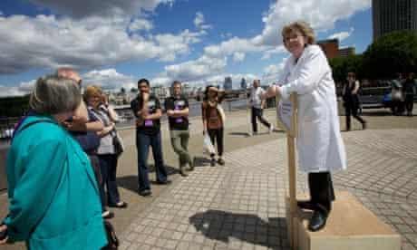 scientist on soap box
