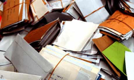 Piles of letters