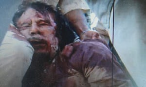 Frame grab of a man purported to be former Libyan leader Muammar Gaddafi