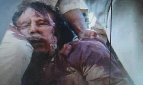 Frame grab of a man purported to be former Libyan leader Muammar Gaddafi