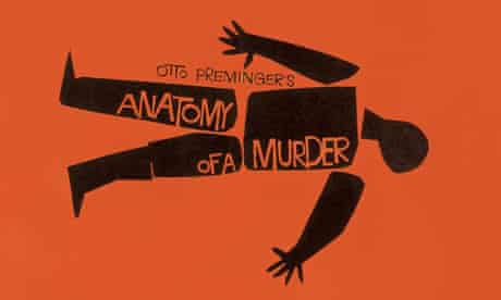 Detail from Saul Bass's movie poster for Preminger's Anatomy of a Murder (1959).