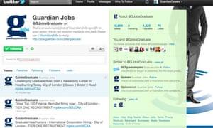Guardian Jobs graduate tweets