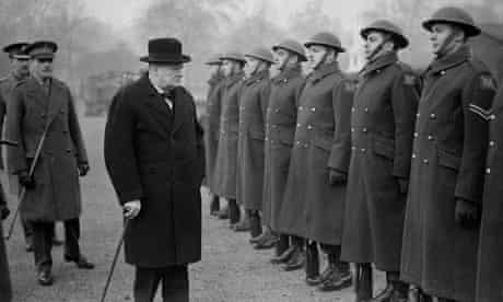 winston churchill inspects thee troops the most courageous raid of WWII