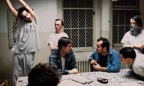 Jack Nicholson as Randle McMurphy in One Flew Over the Cuckoo's Nest (1975).