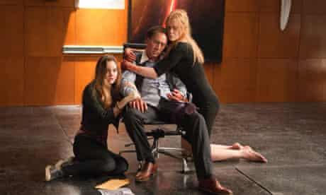 Liana Liberato, Nicolas Cage and Nicole Kidman in Trespass.