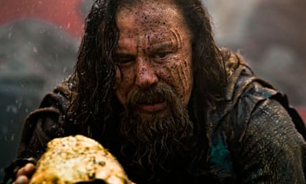 Mickey Rourke as the wicked Hyperion in Immortals 3D.