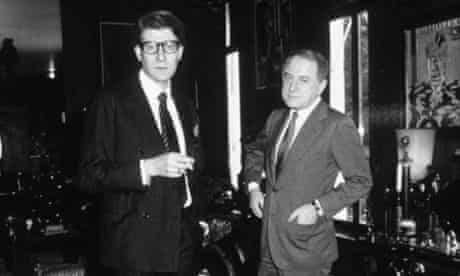 Yves Saint Laurent and Pierre Bergé photographed in 1982.