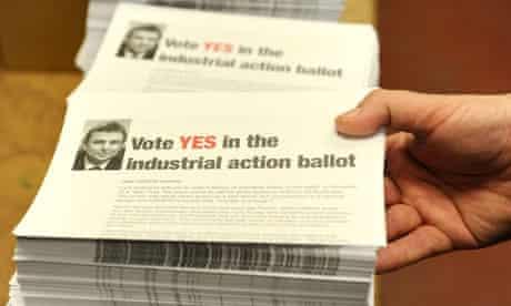 Public sector strike ballot