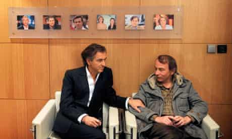 Bernard-Henri Lévy and Michel Houellebecq in 2008