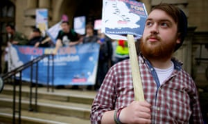 SHEFFIELD, 12th October 2011 -Alex Moore, one of the  Jarrow marchers at a rally in Sheffield
