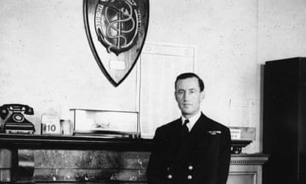 Commander Ian Fleming in the Admiralty's Room 39.