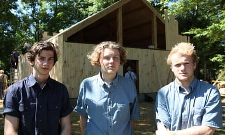 British teenagers Jordan, James and George in Living With the Amish.