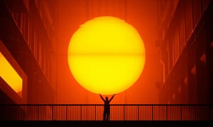 Sunny side up: The Weather Project by Olafur Eliasson at Tate Modern.