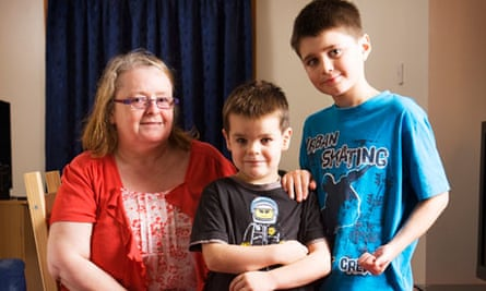Janet Love with her sons, David and Euan