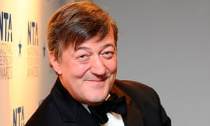 Stephen Fry arriving for the national television awards 2010