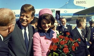 John and Jackie Kennedy arrive in Dallas, 22 November 1963.