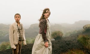 Solomon Glave and Shannon Beer as the young Heathcliff and Cathy in Wuthering Heights.