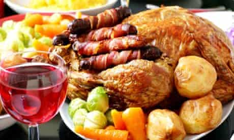 Stuffed the great british Christmas Dinner roast turkey watch this