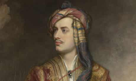 Lord Byron in the 1814 portrait by Thomas Phillips